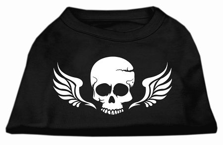 Dog Shirts: SKULL WINGS Screen Print Dog Shirt in Various Colors & Sizes by Mirage