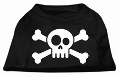 Dog Shirts: SKULL CROSSBONE Screen Print Dog Shirt in Various Colors & Sizes by Mirage
