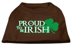 Dog Shirts: PROUD TO BE IRISH Screen Print Dog Shirt in Various Colors & Sizes by Mirage