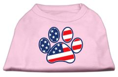Dog Shirts: PATRIOTIC PAWS Screen Print Dog Shirt in Various Colors & Sizes by Mirage