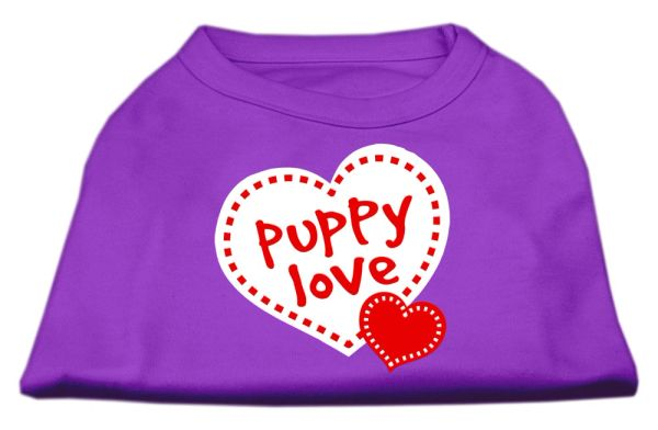 Cute Dog Shirts: PUPPY LOVE Screen Print Cute Dog Shirt in Various Colors & Sizes by Mirage