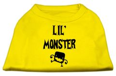 Dog Shirts: LIL' MONSTER Screen Print Dog Shirt in Various Colors & Sizes by Mirage