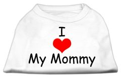 Dog Shirts: I LOVE MY MOMMY Screen Print Dog Shirt in Various Colors & Sizes by Mirage