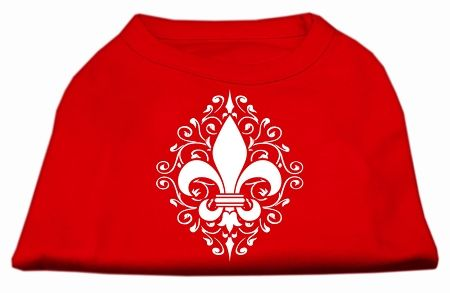Dog Shirts: HENNA FLEUR DE LIS Screen Print Dog Shirt in Various Colors & Sizes by Mirage