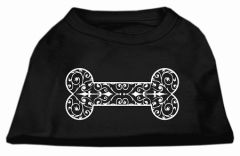 Dog Shirts: HENNA BONE Screen Print Dog Shirt in Various Colors & Sizes by Mirage