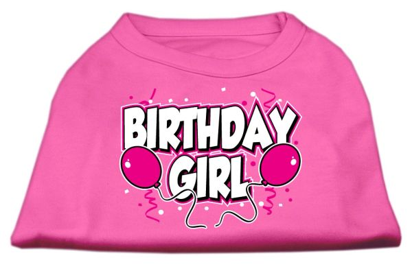 Dog Shirts: BIRTHDAY GIRL Screen Print Dog Shirt in Various Colors & Sizes by Mirage