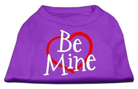 Cute Dog Shirts: BE MINE Screen Print Dog Shirt in Various Colors & Sizes