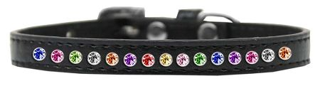BLING DOG COLLARS: Puppy Dog Collar in Various Sizes & Colors USA - ONE ROW CONFETTI