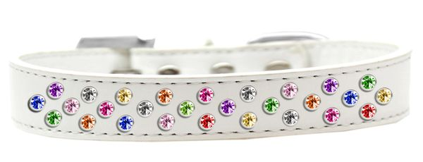 BLING DOG COLLARS: Dog Collar in Various Sizes & Colors USA by Mirage - SPRINKLES CONFETTI CRYSTALS