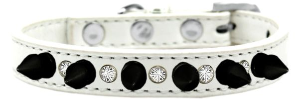 Spike Dog Collars: Cute Clear Crystals & Black Spikes Dog Collar in Various Sizes & Colors