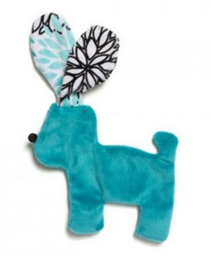 Dog Toys: Unstuffed Floppy Dog Shape Dog Toy with Squeaker