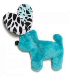 Dog Toys: Unstuffed Floppy Dog Mini Shape Dog Toy with Squeaker
