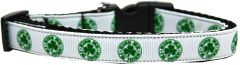 Holiday Dog Collars: Nylon Ribbon Dog Collar KISS ME I'M IRISH - Matching Leash Sold Separately