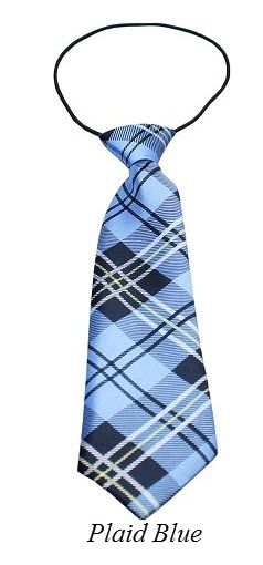 "Big Dog Long Neck 11"" Tie in Various PLAID Colors & Patterns by MiragePetProducts"
