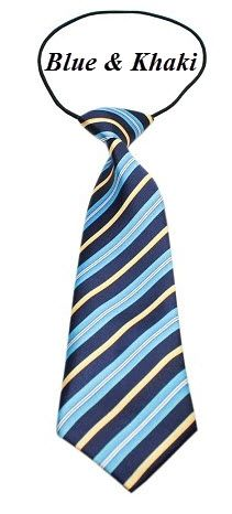 "Big Dog Long Neck 11"" Tie in Various STRIPES Colors & Patterns by MiragePetProducts"