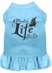 DOG DRESSES: Embroidered A PIRATE'S LIFE FOR ME Dog Dress by MiragePetProducts Sizes Sm - 4X