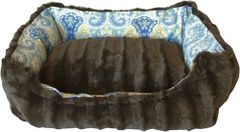 Dog Beds: Wanderlust Pet Dog Beds Velvety Material Reversible Machine Washable Sizes XS, Sm, Md, Made in USA