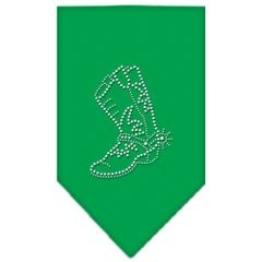 Dog Bandanas: Rhinestone BOOT Dog Bandanas Sizes - Small or Large in Different Colors Made in USA by Mirage