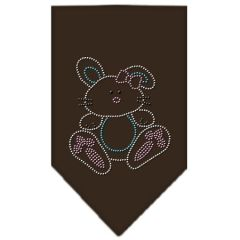 Dog Bandanas: Rhinestone Dog Bandana BUNNY Different Colors Sizes Small or Large by Mirage USA