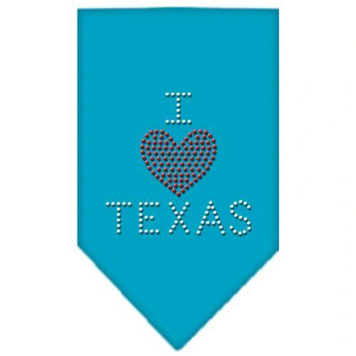 Dog Bandanas: Rhinestone Dog Bandana I HEART TEXAS Different Colors Sizes Small or Large by Mirage USA