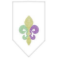 Dog Bandanas: Rhinestone Dog Bandana MARDI GRAS FLEUR DE LIS Different Colors Sizes Small or Large by Mirage USA