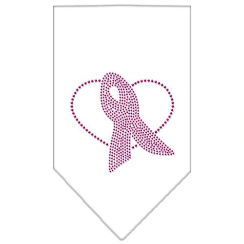 Dog Bandanas: Rhinestone Dog Bandana PINK RIBBON Different Colors in Small or Large by Mirage USA
