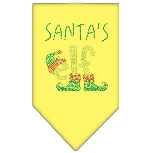 Dog Bandanas: Rhinestone Dog Bandana SANTA'S ELF Different Colors in Small or Large by Mirage USA