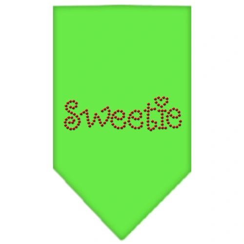 Dog Bandanas: Rhinestone Dog Bandana SWEETIE Different Colors in Small or Large by Mirage USA