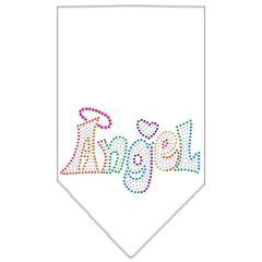 Dog Bandanas: Rhinestone Dog Bandana TECHNICOLOR ANGEL Different Colors in Small or Large by Mirage USA