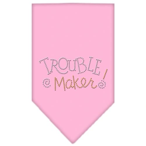 Dog Bandanas: Rhinestone Dog Bandana TROUBLE MAKER Different Colors in Small or Large by Mirage USA