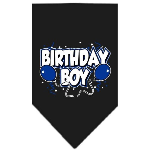 Dog Bandanas: Cotton Screen Print Dog Bandana 'BIRTHDAY BOY' Different Colors in Small or Large by Mirage USA