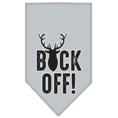 Dog Bandanas: Screen Print Cotton Dog Bandana 'BUCK OFF!' Different Colors in Small or Large by Mirage USA