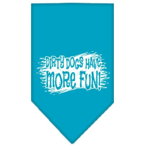 Dog Bandanas: Screen Print Cotton Dog Bandana 'DIRTY DOGS' Different Colors in Small or Large by Mirage USA