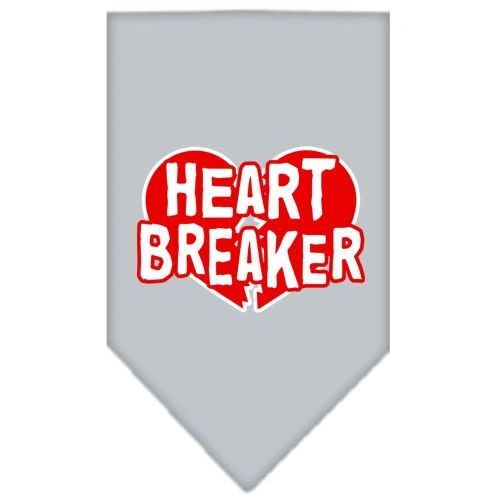 Dog Bandanas: Screen Print Cotton Dog Bandana 'HEART BREAKER' in Various Colors