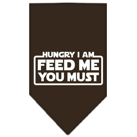 Dog Bandanas: Screen Print Cotton Dog Bandana 'HUNGRY I AM FEED ME YOU MUST' in Various Colors