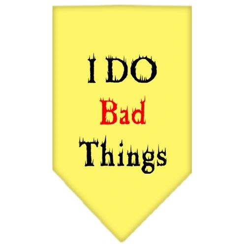 Dog Bandanas: Screen Print Cotton Dog Bandana 'I DO BAD THINGS' in Various Colors