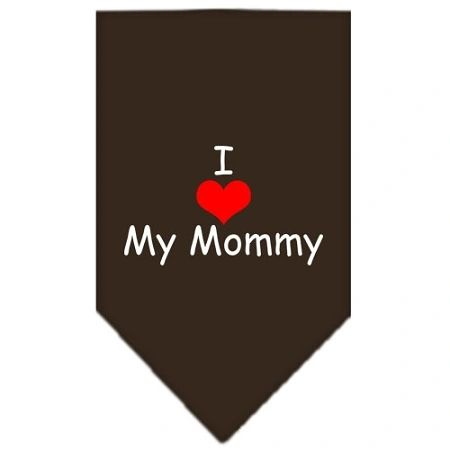 Dog Bandanas: Screen Print Cotton Dog Bandana 'I HEART MY MOMMY' in Various Colors