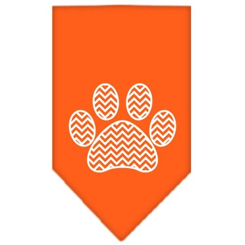 Dog Bandanas: Screen Print Cotton Dog Bandana 'CHEVRON PAW' Different Colors in Small or Large by Mirage USA