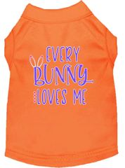 Dog Shirts: Easter Screen Print Dog Shirt EVERY BUNNY LOVES ME in Various Colors & Sizes