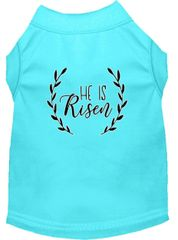 Dog Shirts: Easter Screen Print Dog Shirt in Various Colors & Sizes by Mirage - HE IS RISEN