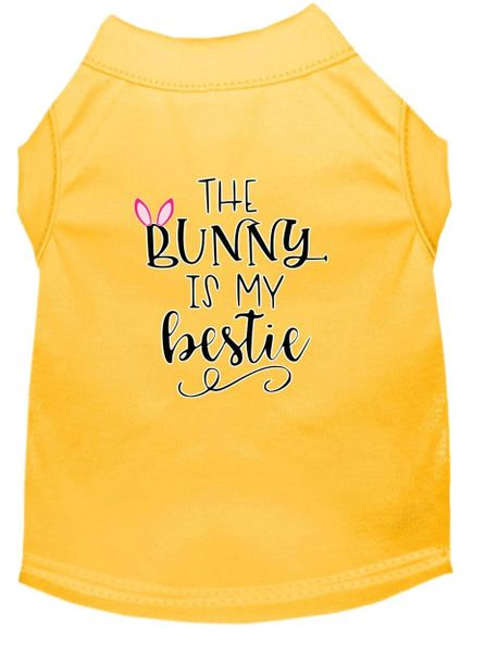 Dog Shirts: Easter Screen Print Dog Shirt in Various Colors & Sizes by Mirage - THE BUNNY IS MY BESTIE
