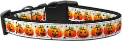 Holiday Nylon Dog Collars: Nylon Ribbon Collar PUMPKIN PARADE - Matching Leash Sold Separately