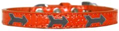 Dog Collars: Cute Dog Collar with ARROW Widgets on Croc Dog Collar in Various Sizes & Colors