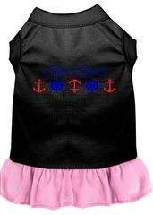 DOG DRESSES: Embroidered 'SET SAIL' Dog Dress in 4 Different Mixed Colors & Sizes 10 (Sm) - 20 (3X) Made in USA