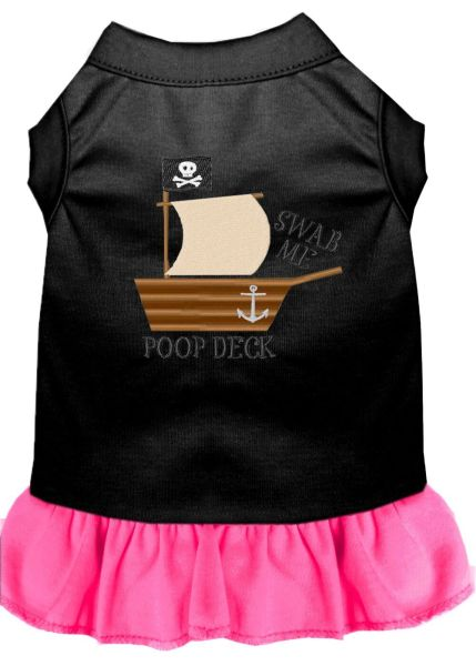 DOG DRESSES: Embroidered POOP DECK Dog Dress in 4 Different Mixed Colors & Sizes 10 (Sm) - 20 (3X) Made in USA