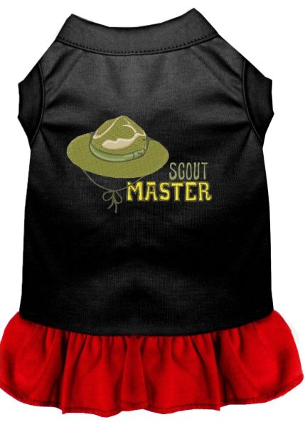 DOG DRESSES: Embroidered SCOUT MASTER Dog Dress in 4 Different Mixed Colors & Sizes 10 (Sm) - 20 (3X) Made in USA