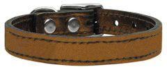 Leather Dog Collars: METALLIC Leather Dog Collar Mirage Pet Products USA - PLAIN