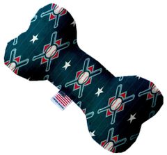 PET TOYS: Soft Fabric or Canvas Bone Shape Pet Toy in 3 Sizes Made in USA by MiragePetProducts - BATS & BASEBALLS