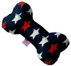 PET TOYS: Soft Fabric or Canvas Bone Shape Pet Toy in 3 Sizes Made in USA by MiragePetProducts - GRAFFITI STARS