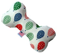 PET TOYS: Soft Durable Fabric or Canvas Bone Shape Pet Toy in 3 Sizes Made in USA by MiragePetProducts - HOT AIR BALLOONS